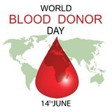 World Blood Donor Day concept. World Blood Donor Day - 14 June. Vector illustration Royalty Free Stock Photography