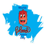 World Blood Donor Day. Logo design Stock Image