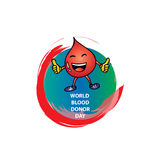 World Blood Donor Day. Logo design Stock Photography