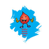 World Blood Donor Day. Logo design Royalty Free Stock Photo