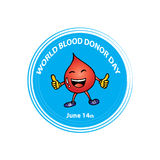 World Blood Donor Day. Logo design Stock Images