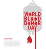 World Blood Donor Day Poster Stock Images