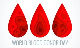 World blood donor day poster vector illustration