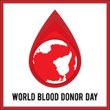 World Blood Donor Day. Vector illustration for holiday. 14 June. Royalty Free Stock Photo