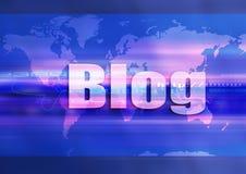 World blue blog. Communication illustration clip art Royalty Free Stock Photo
