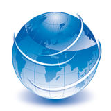 World blue globe Royalty Free Stock Photos