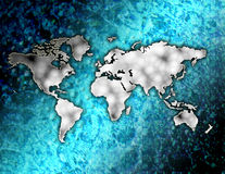 The world in the blue ocean stock illustration