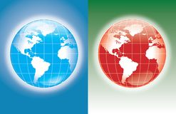 World blue and red Stock Photography