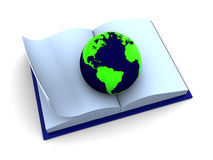 World in book Stock Photo
