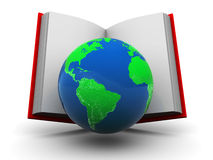 World in book Stock Photos