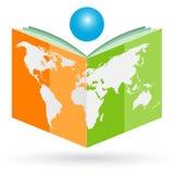 World book. Illustration of world book design  on white background Stock Photo