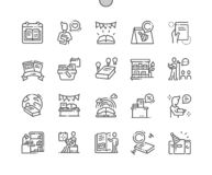 World Book and Copyright Day Well-crafted Vector. World Book and Copyright Day Well-crafted Pixel Perfect Vector Thin Line Icons 30 2x Grid for Web Graphics and royalty free illustration