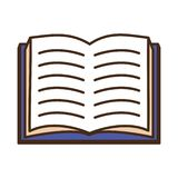 World book day. Open textbook literature world book day vector illustration royalty free illustration