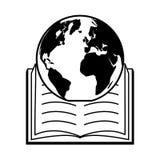 World book day. Planet open textbook - world book day vector illustration vector illustration