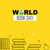 World book day yellow banner Royalty Free Stock Photography