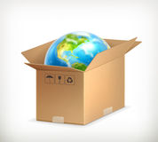 World in box Stock Photo