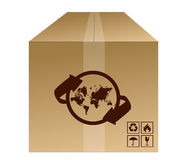 World box shipment concept royalty free illustration