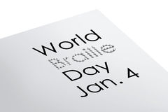 World braille day illustration Royalty Free Stock Image