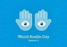 World Braille Day vector illustration royalty free illustration