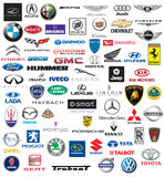 World brand of cars logotypes Royalty Free Stock Images