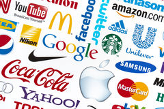 World Brand Logotypes Royalty Free Stock Photo