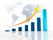 World Business 3D Graph Stock Photos