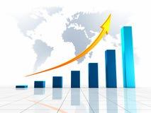 World Business 3D Graph Stock Photos