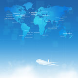World Business Air Travel Royalty Free Stock Photography