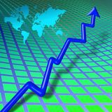 World business bar chart Royalty Free Stock Photo