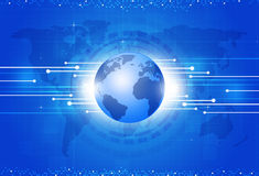 World Business Blue Background Royalty Free Stock Image