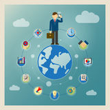 World business concept Stock Images