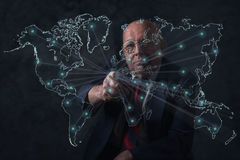 World business connections. Senior businessman. Stock Photography