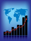 World business graph. Business graph showing success. More in my portfolio Stock Photography