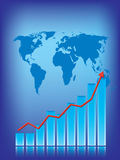 World business graph Royalty Free Stock Photos