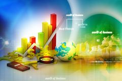 World business graph Stock Photography