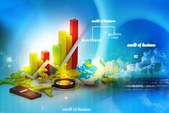 World business graph Royalty Free Stock Image