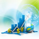 World business graph Stock Images