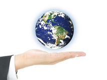 World business on hand Royalty Free Stock Photo