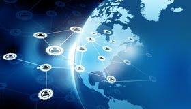 World business network. 3d illustration of World business network vector illustration