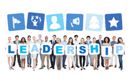 World Business People Holding Word LEADERSHIP Royalty Free Stock Image