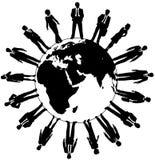 World business people workforce team. Worldwide workforce people team ready to work and support business royalty free illustration