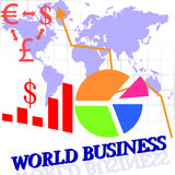 World business theme background Royalty Free Stock Image