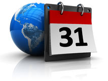 World calendar Royalty Free Stock Image