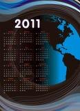 World calendar 2011 Royalty Free Stock Images