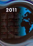 World calendar 2011. A world calendar 2011 all months Stock Photos