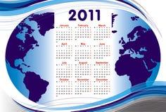 World calendar 2011. A world calendar 2011 all months Royalty Free Illustration