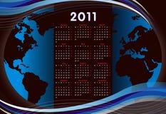 World calendar 2011. A world calendar 2011 all months Stock Illustration