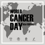 World Cancer Day concept with icons. Vector Illustration vector illustration