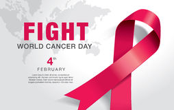 World Cancer Day. February 4, World Cancer Day poster Royalty Free Stock Image