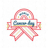 World Cancer Day greeting emblem Stock Images